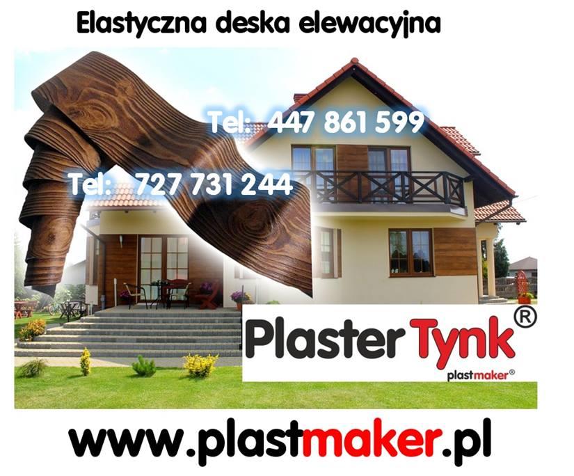 elastyczna deska elewacyjna imitacja drewna na elewacje